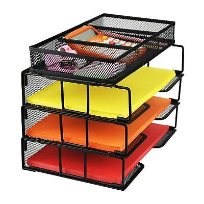 Proaid Mesh Office Desk Organizer 3 Tier Stackable Letter Tray Sorter