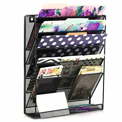 Think Hanging Wall Metal File Organizer Office Supplies Desk and Makeup Storage