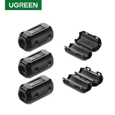 Ugreen Ferrite Ring Core RFI EMI Noise Suppressor Cable Clip Filter Fr 5mm Cable