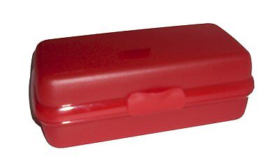 Tupperware Sub Sandwich Hoagy Rectangular Sandwich Keeper Red