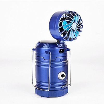 Solar Rechargeable Fan Multi-function LED Camping Light Table Lamp Flashlight