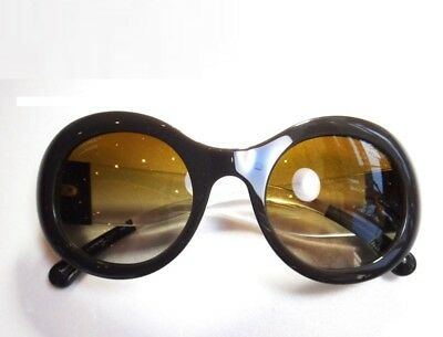 9baabab6b65 CHANEL Sunglasses Brown Round Authentic Coco Mark Box Italy Ladies FS Mint   1194