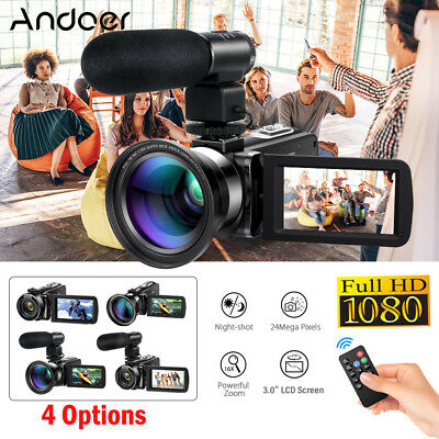 "Andoer HD 1080P 24MP 3"" LCD 16X ZOOM Night Vision Digital DV Camera Camcorder AU"