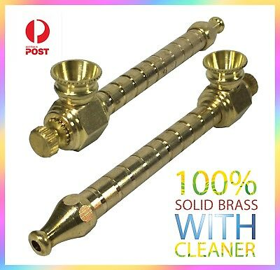 Tobacco Smoking Pipe -  metal smoking pipe - brass cone piece drops bong