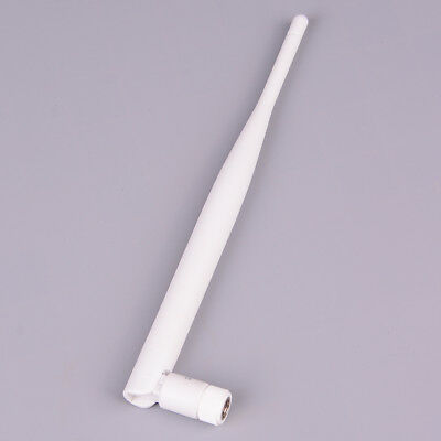 1PC 2.4GHz white WiFi antenna 5dBi aerial RP SMA male connector 2.4g antenna   I