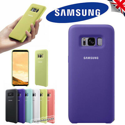 Genuine Soft Silicone OEM Phone Case Cover For Samsung Galaxy S9 S8 Plus Note 8