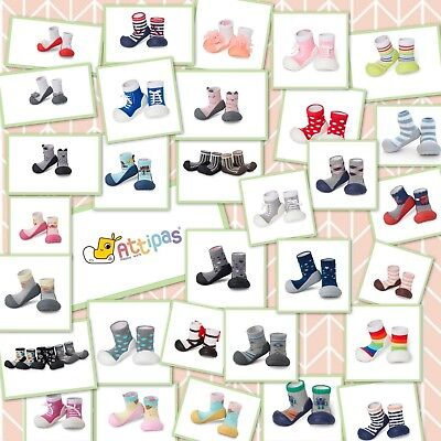 Non Slip Baby Shoes - Attipas - 2-in-1 sock and shoe - New in Box