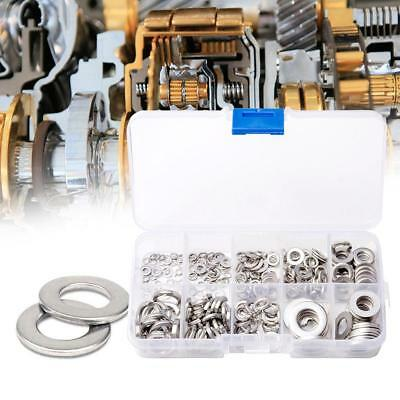 500PCS Flat & Spring Stainless Steel Assorted Washers Set Rust Resistant 8 Sizes