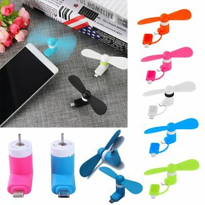 Mini Micro USB Fan Portable Super Mute USB Cooler Cooling For iPhone X Portable