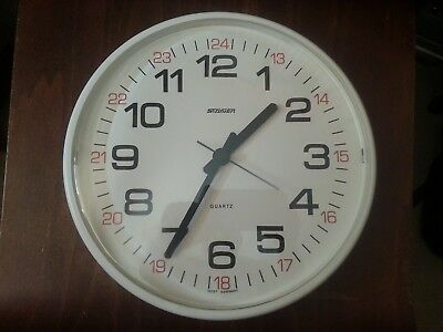 Vintage Retro Staiger West German Large Wall Clock Mid Century Modernist Quartz