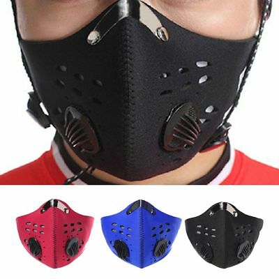 PM 2.5 Outdoor Riding Mask Gas Filter Protection Face Dust Mask Head Respirator