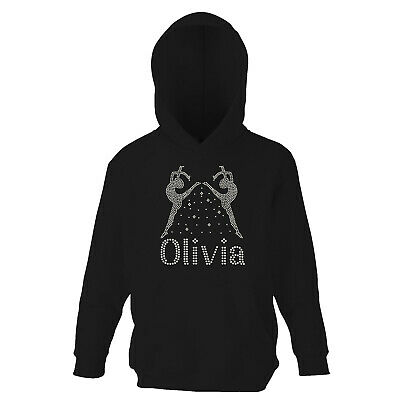 Girls Personalised Gymnastic Hoodie MIRROR Design for Gymnastics Ballet Dance
