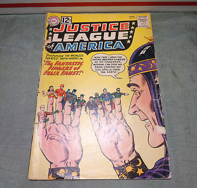 Justice League of America # 10 (DC March, 1962) Missing back cover