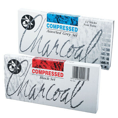 Jakar Compressed Charcoal Assorted Black or Grey Tones Sets 12 Sticks