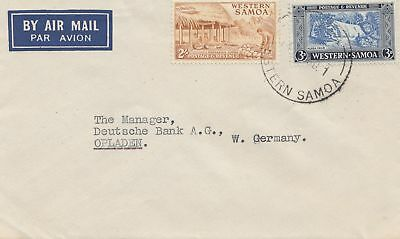Samoa: Air Mail to Germany - Opladen