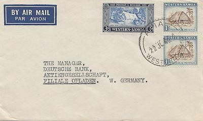 Samoa: 1960: Air Mail to Germany - Opladen