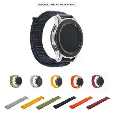 For Samsung Gear S3/Galaxy Watch Band Strap Nylon Sport Loop Bracelet 20/22mm