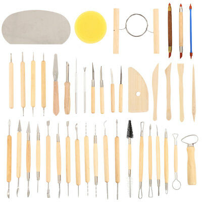 42x Carvers Clay Sculpting Carving Pottery Tools Polymer Modeling DIY Sculpture