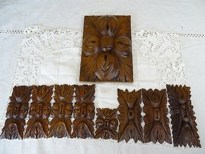 9French Antique Salvage Decorative Wood Part Hand Carved Ornate Furniture Walnut