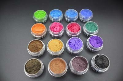 1Set 12 Color Mica Pigment Powder Perfect for Soap Cosmetics Resin Colorant Dye@