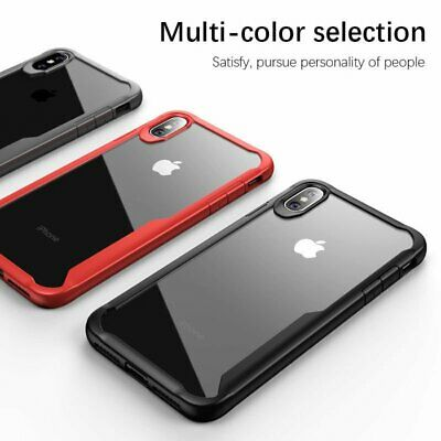 For Apple iPhone XS MAX XR Slim Shockproof Transparent Back Case Cover