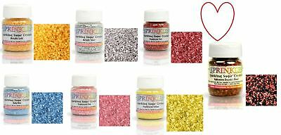 Rainbow Dust Sparkling Sugar Sprinkles Crystals 50g Cake Edible