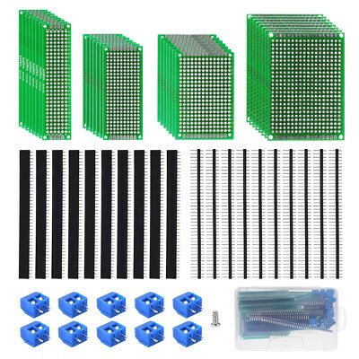 60pcs Double Sided Adapter Converter PCB Circuit Boards Assortment Kit TE949