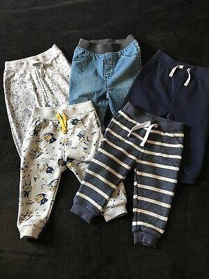 Baby Boys Trouser Bundle 9-12 Months (5 Pairs)