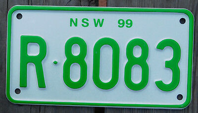 License Plate Number Plate NSW Recreational Vehicle   MINT  R-8083