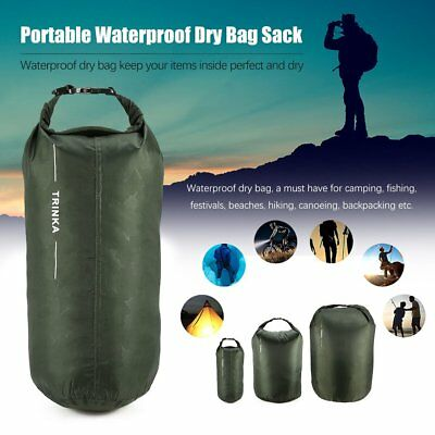 8L-70L Waterproof Dry Bag Outdoor Camping Sack Kayak Duffle Backpack Pouch EC
