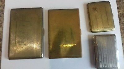 Vintage Brass And Metal Cigarette Cases From Mid 1950's ( Selling As Job Lot )