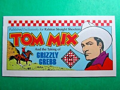 Vintage 1982 Ralston Straight Shooters Tom Mix And The Taking Of Grizzly Grebb