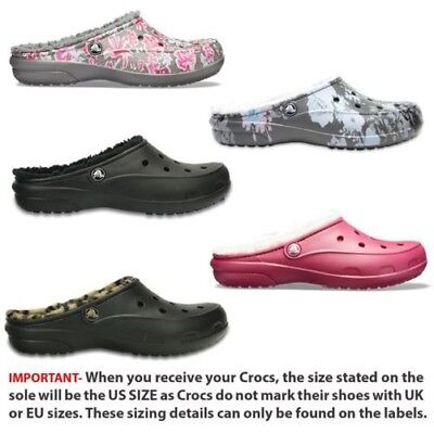 40cb0920f785 Crocs Freesail Graphic & Leopard Fuzz Linned Clog in Floral Print & leopard