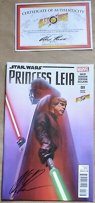 Princess Leia #001 Variant Edition (Marvel, 2015) Signed And Coa By Alex Ross