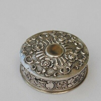Vintage / Antique Silver Pill Or Trinket Box
