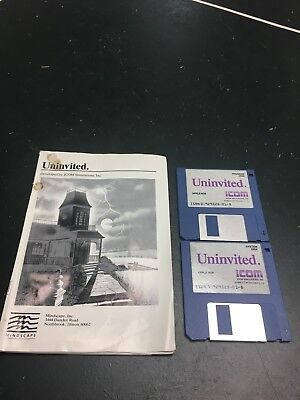Uninvited Video Game for Apple IIGS - Includes Original Instruction Manual
