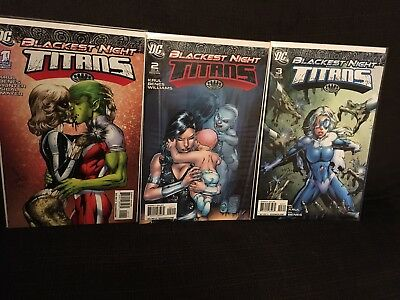 Blackest Night Titans Issues 1, 2 and 3 Full Set NM DC