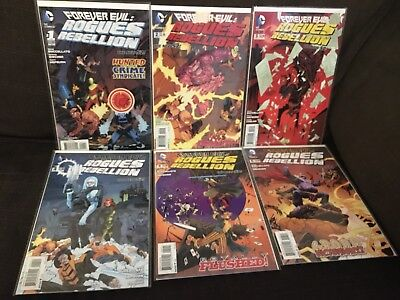 Forever Evil Rogues Rebellion Issues 1 - 6 Full Set Complete Run NM DC Flash