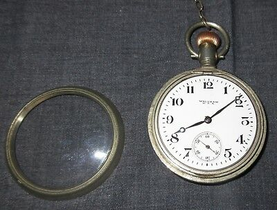Antique WALTHAM USA AWW Co. POCKET WATCH 1918? Not Working old keys RECTA case