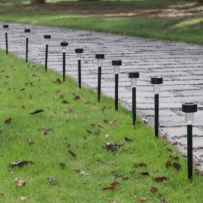 10 Pc Solar Pathway Garden Outdoor LED Lights Yard Lawn Driveway Free Ship