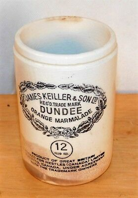 Antique James Keiller & Son ltd Dundee Orange Marmalade 12 oz jar, Nestles 12 oz