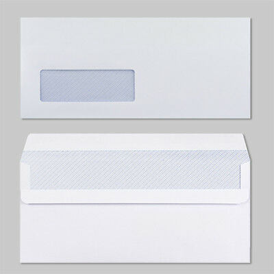 High Quality White Self Seal With Window Envelopes DL Size 90gsm Strong Paper