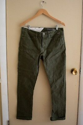 Volcom Men's Stone Made Gritter Tapered Canvas Chino Pant Sz 32