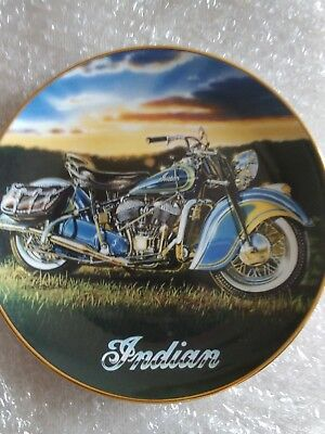 The 1947 Indian chief Motorcycle Plate Franklin Mint SHARP! Bike Biker