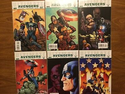 Marvel 2011 Ultimate Avengers 1-6 Complete Millar Pacheco Captain America