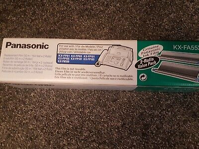 Genuine Panasonic Ink Film KX-FA55X Cartridge roll twin pack