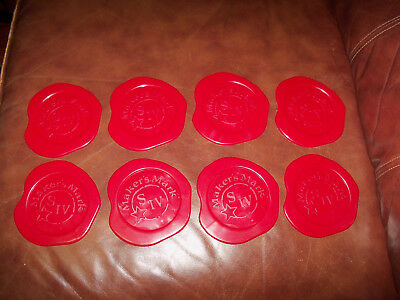 MAKERS MARK BOURBON SET OF 8 COASTERS Red (b)