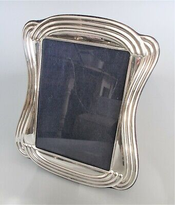 Large contemporary Italian sterling silver 9.75'' x 8'' photo frame
