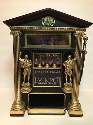 FRANKLIN OFFICIAL CAESAR'S PALACE SLOT MACHINE SAVINGS BANK + Coins