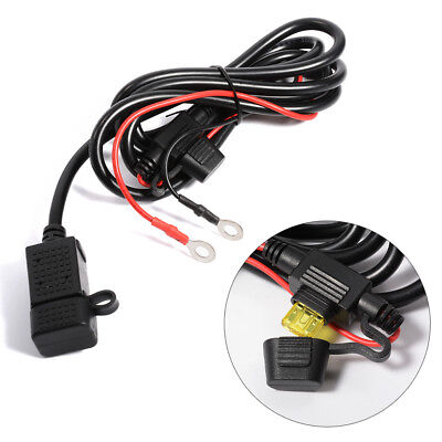 12V/24V Motorcycle Waterproof USB Power Supply Port Socket Charger 2.1A MA440